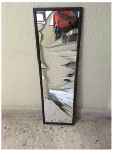 broken mirror after Mexico City earthquake
