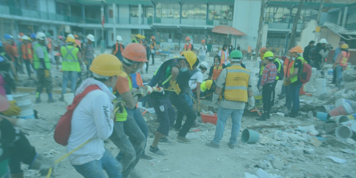 Mexico City earthquake volunteers