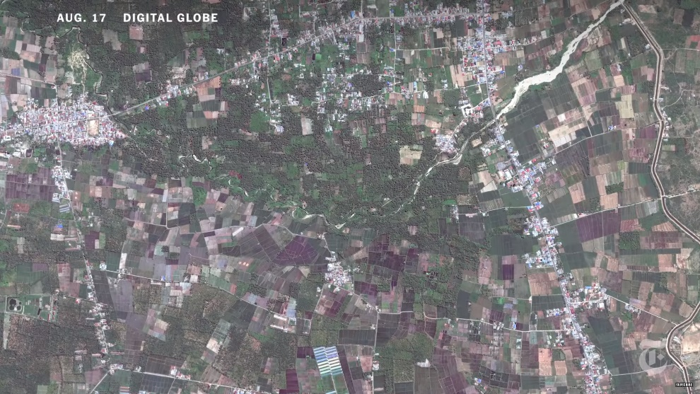 Satellite picture of Palu, Indonesia before 2018 earthquake