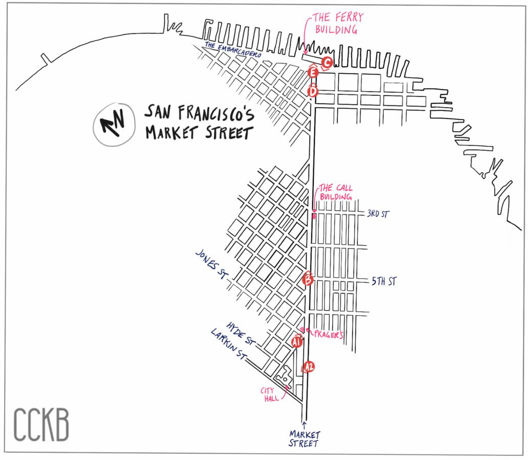 1906 San Francisco Earthquake Market Street Map