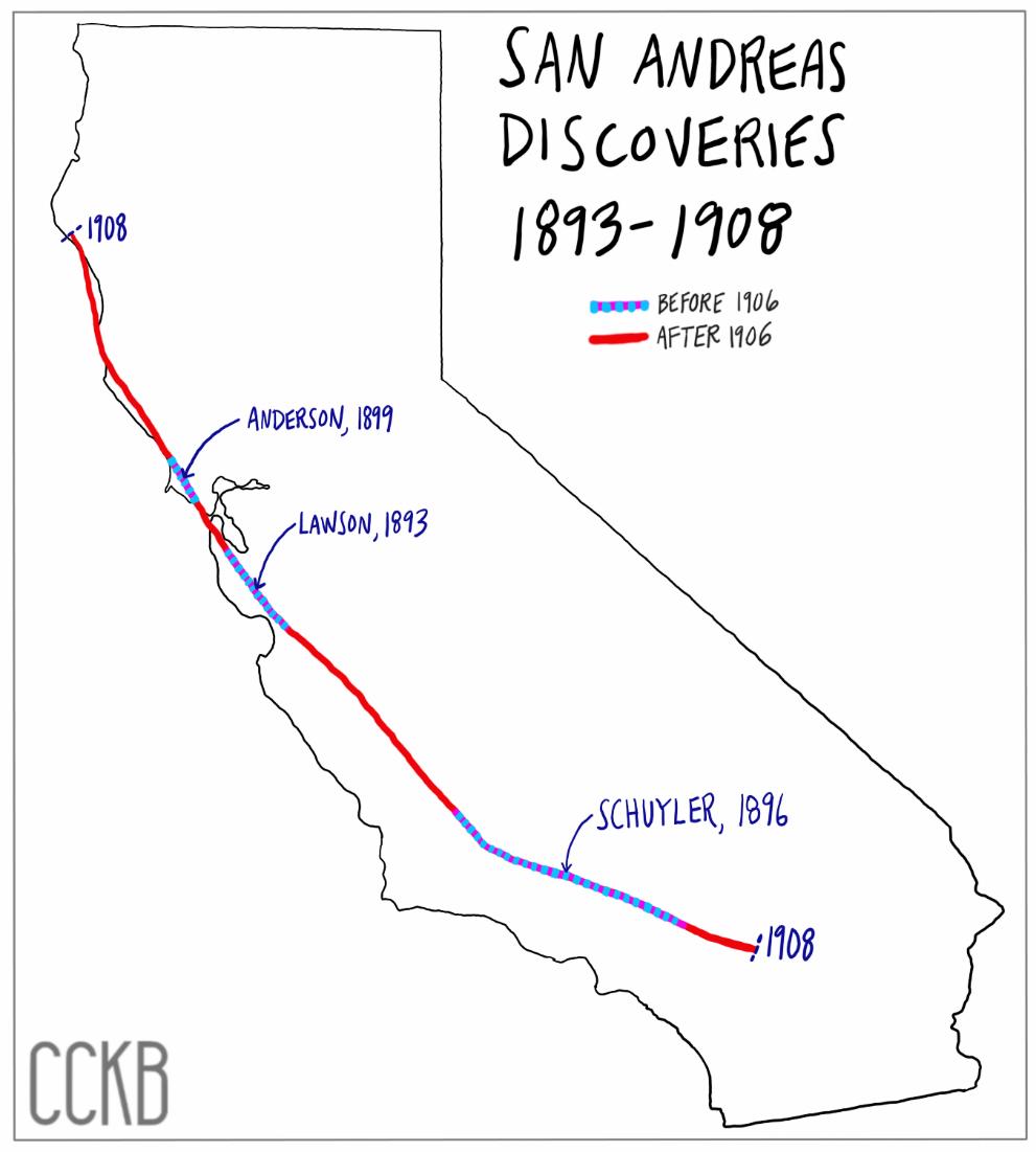 1906 San Francisco Earthquake - San Andreas Fault