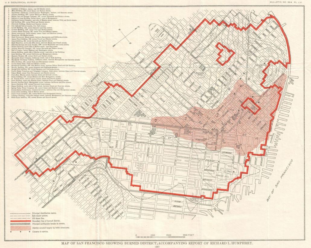 1906 San Francisco Earthquake - Map